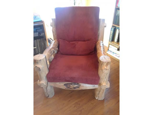 Strange Aspen Log Chairs Loveseat Ottoman In Teller County Dailytribune Chair Design For Home Dailytribuneorg