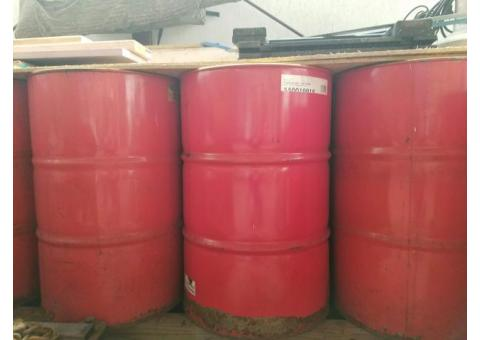 11 Drums of Clean Used Rotella Motor Oil